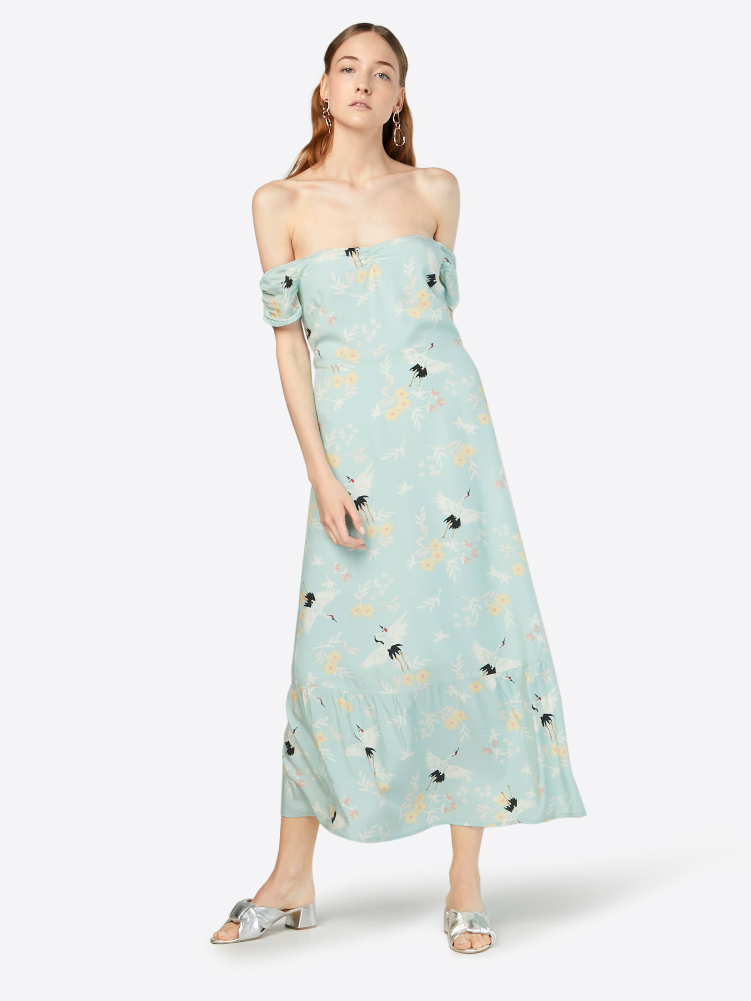 'gathered Kleid Mint Detail Dress' Sleeve In Mint amp;berry mNvnw80