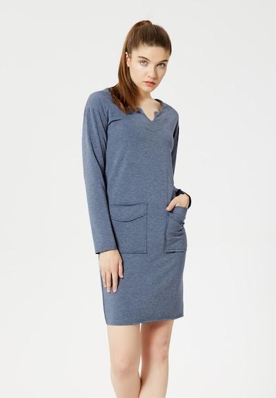TALENCE Kleid in taubenblau, Modelansicht