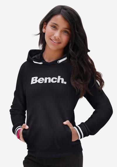 BENCH Kapuzensweatshirt in schwarz: Frontalansicht
