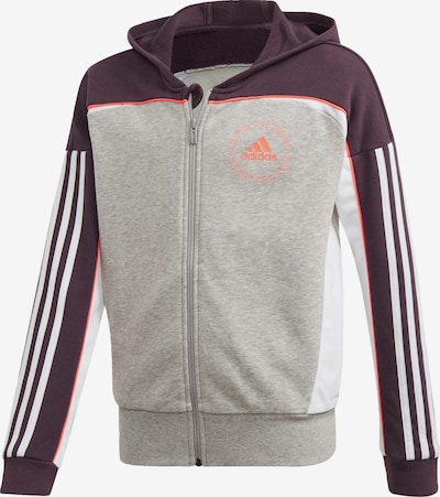 ADIDAS PERFORMANCE Sweatjacke in grau / orange / schwarz / weiß, Produktansicht