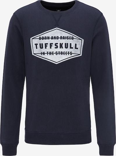 TUFFSKULL Sweatshirt in de kleur Marine / Wit, Productweergave