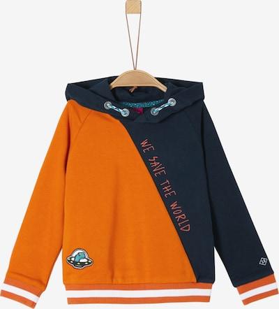 s.Oliver Junior Hoodie in nachtblau / aqua / orangemeliert / weiß, Produktansicht