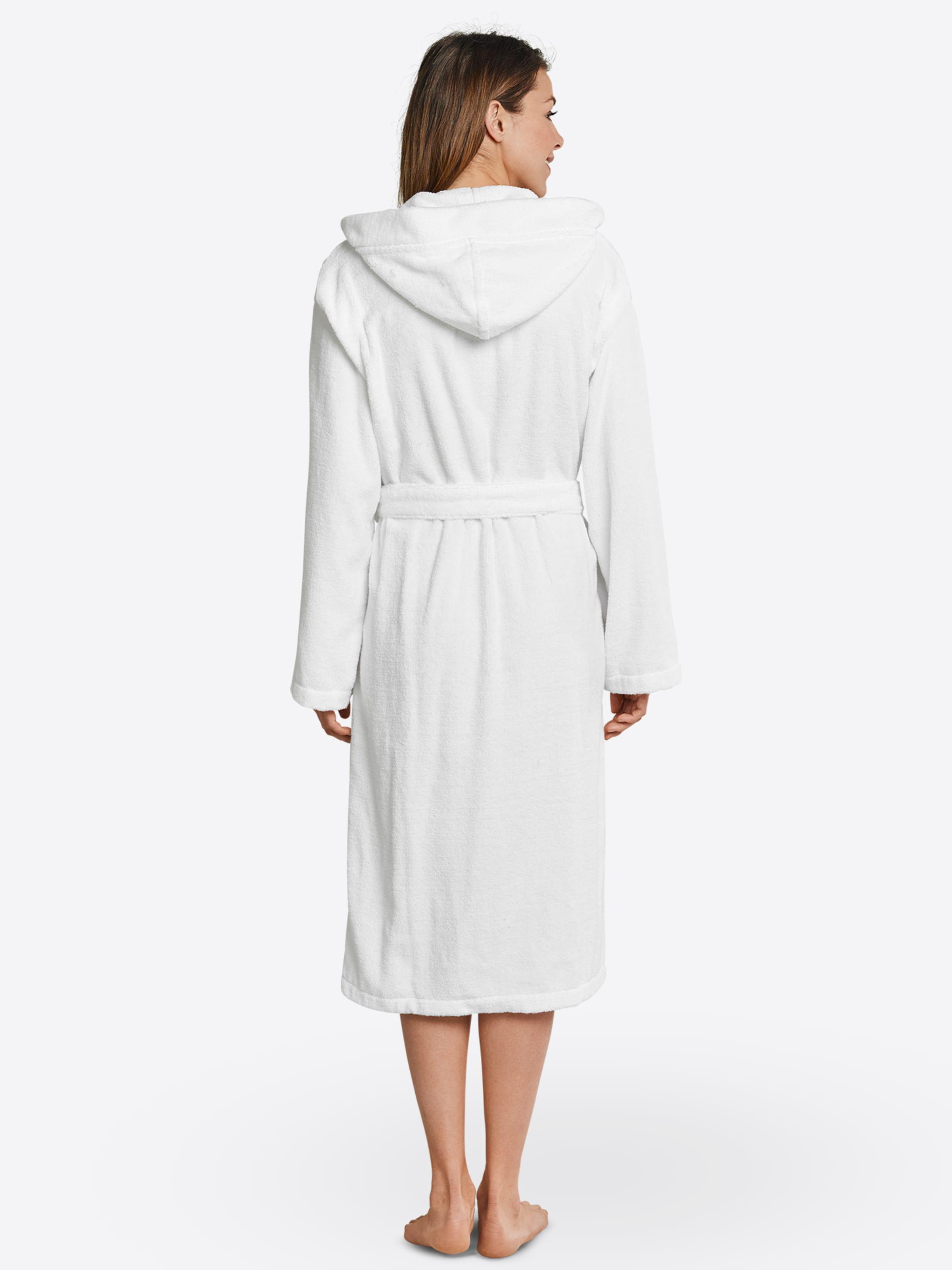 SCHIESSER Bademantel in weiß