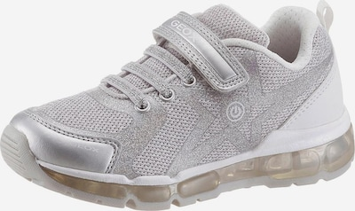 GEOX Kids Sneaker in hellgrau / silber, Produktansicht