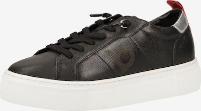 bugatti Baskets basses en noir / argent, Vue avec produit