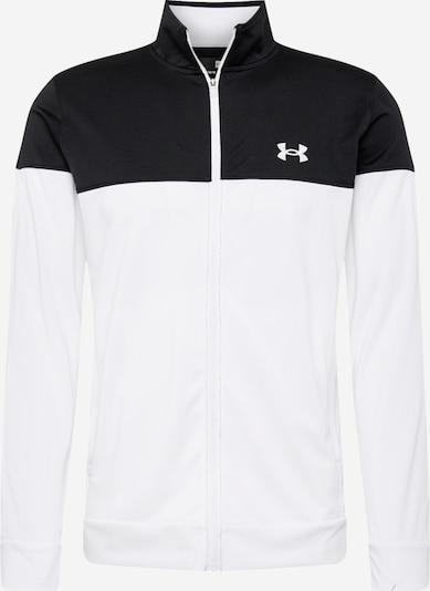 UNDER ARMOUR Sportjas 'Pique' in de kleur Zwart / Wit, Productweergave
