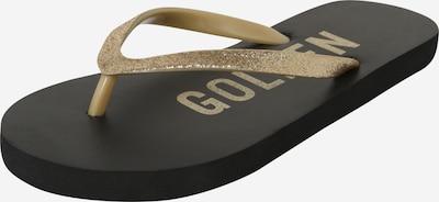 NAME IT Sandali | zlata / črna barva, Prikaz izdelka