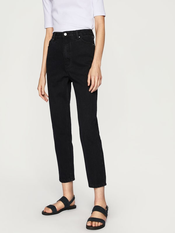 edited the label mom jeans 39 moa 39 in schwarz about you. Black Bedroom Furniture Sets. Home Design Ideas