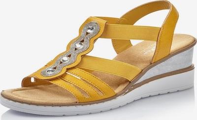 Sandale RIEKER pe galben, Vizualizare produs