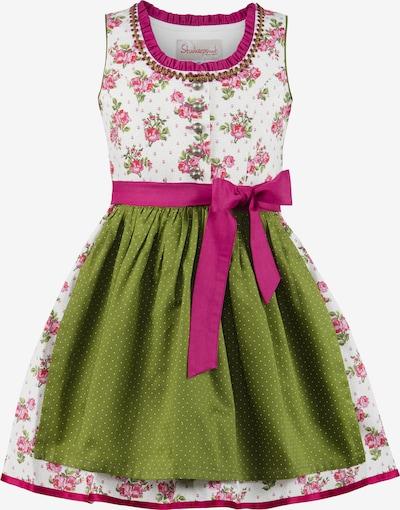 STOCKERPOINT Jurk 'Moni' in de kleur Lichtgroen / Pink / Wit, Productweergave