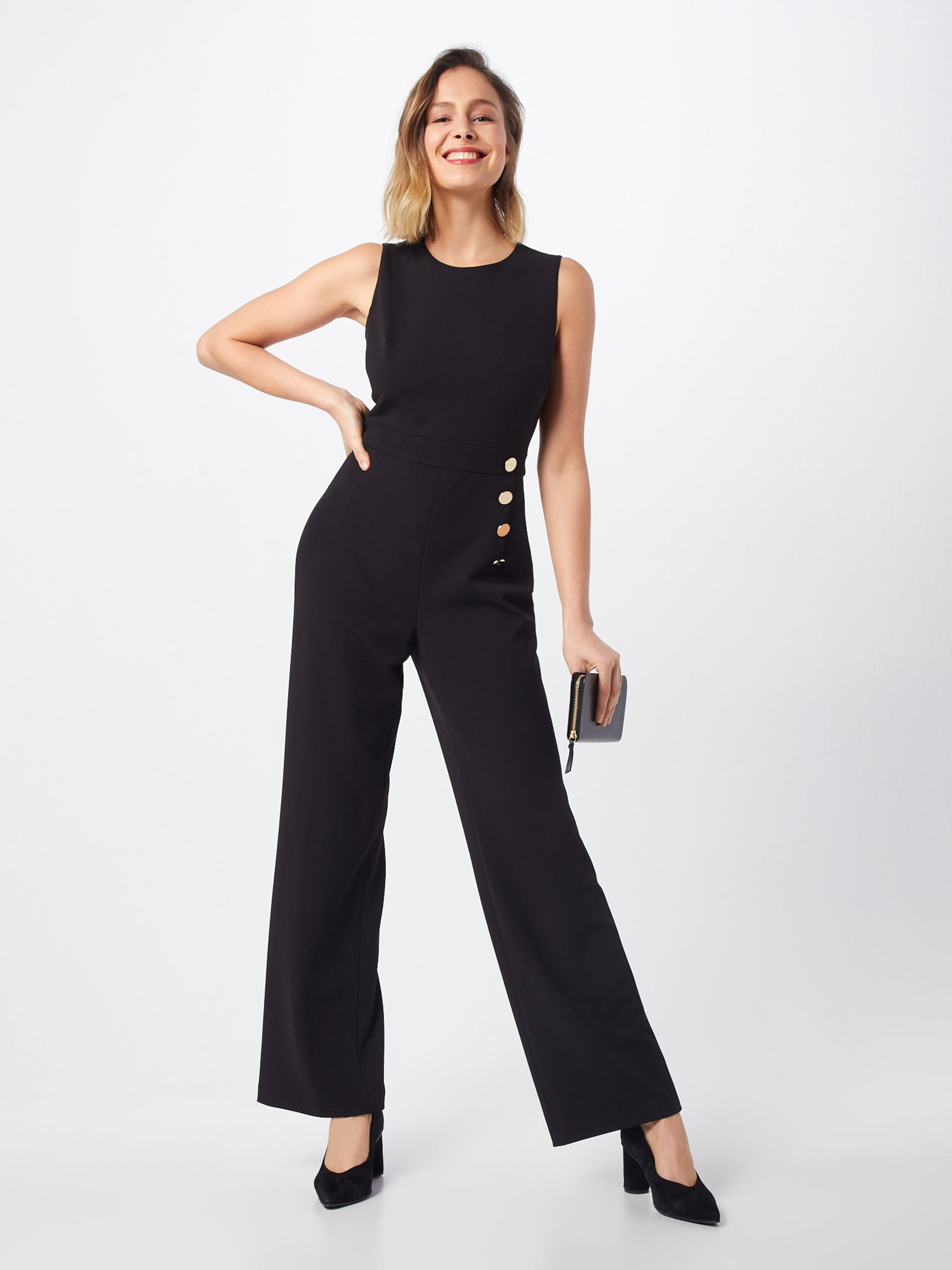 Jumpsuit' Schwarz Dkny 'sleeveless Overall In 6yfbY7gv