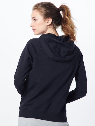 NIKE Sweat-shirt 'Essntl' en noir / blanc: Vue de dos