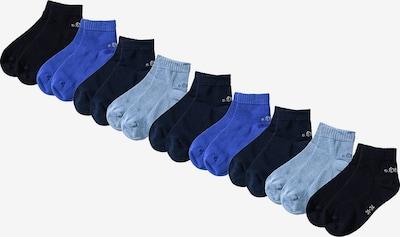 s.Oliver Junior Sneakersocken in blau / navy / kobaltblau / hellblau, Produktansicht