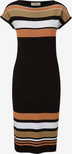 heine Strickkleid in braun / orange / schwarz / weiß, Produktansicht