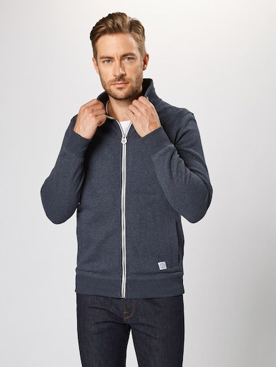 TOM TAILOR Sweatjacke in navy: Frontalansicht