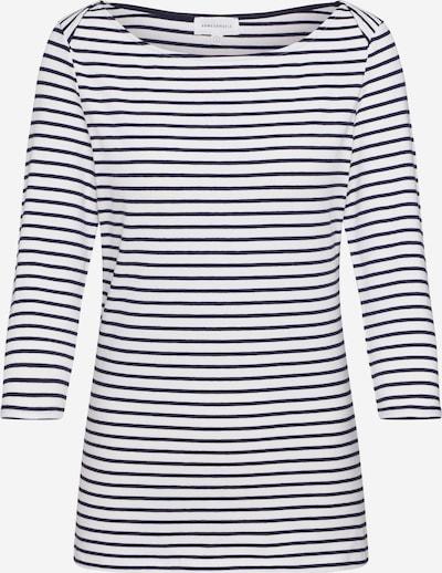 ARMEDANGELS T-Krekls 'DALENAA STRIPES' pieejami tumši zils / gandrīz balts, Preces skats