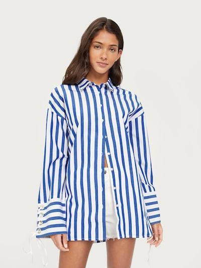 Bluză 'Tess' EDITED pe albastru / alb, Vizualizare model