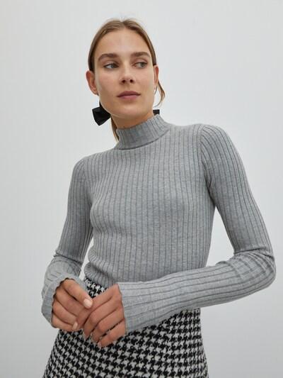 EDITED Pulover 'Jannice' | siva barva, Prikaz modela
