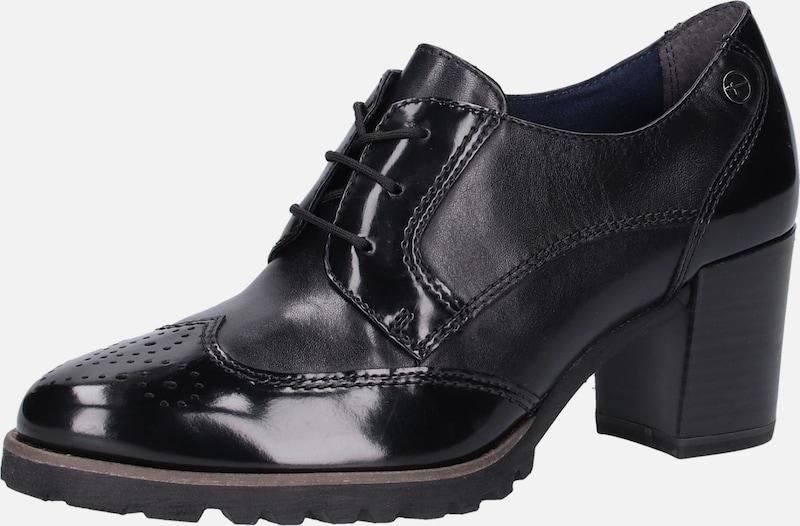 TAMARIS Schnürpumps Leder, sonstiges Material Billige Herren- und Damenschuhe
