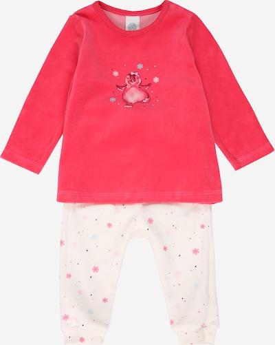 SANETTA Pyjama in pink / offwhite, Produktansicht