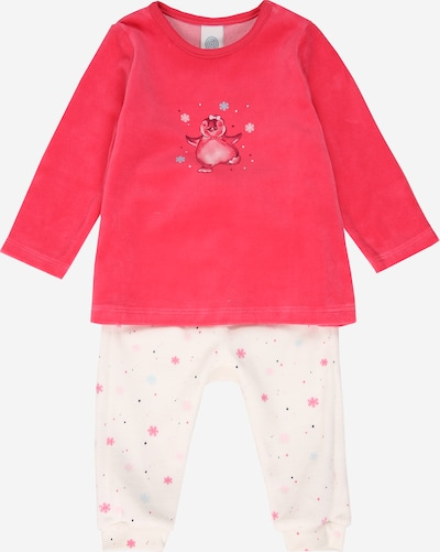 Pijamale SANETTA pe roz / offwhite, Vizualizare produs