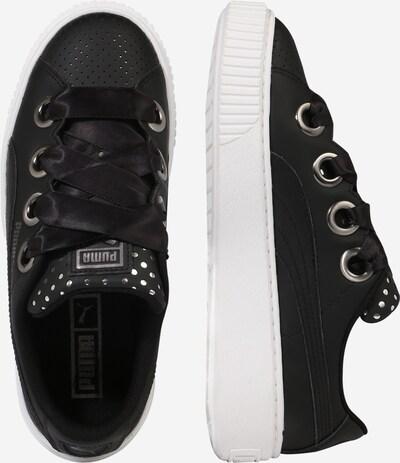 PUMA Sneaker 'Platform Kiss' in schwarz / weiß: Seitenansicht
