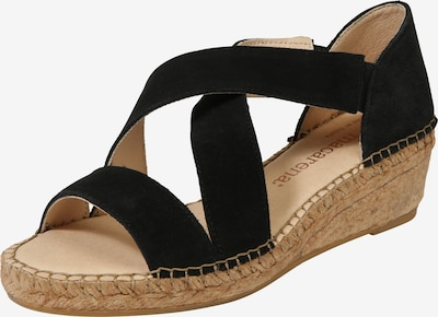 MACARENA Sandalen met riem 'LUNA 85' in de kleur Beige / Zwart, Productweergave
