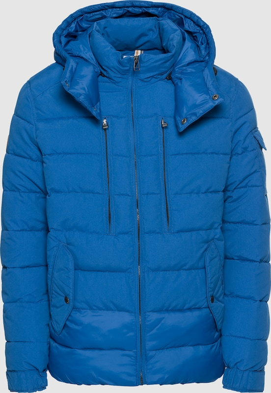 JACK & JONES Steppjacke 'JORLITE SHORT PUFFER JACKET' in blau  Freizeit, schlank, schlank