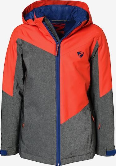 ZIENER Skijacke 'Avan' in graumeliert / orangerot, Produktansicht