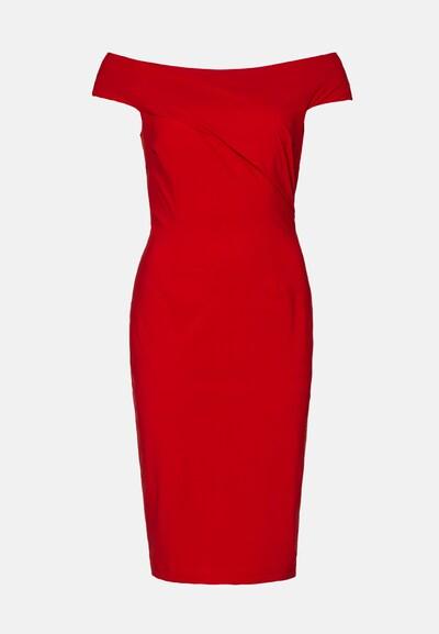 EVITA Jurk in de kleur Rood: Vooraanzicht