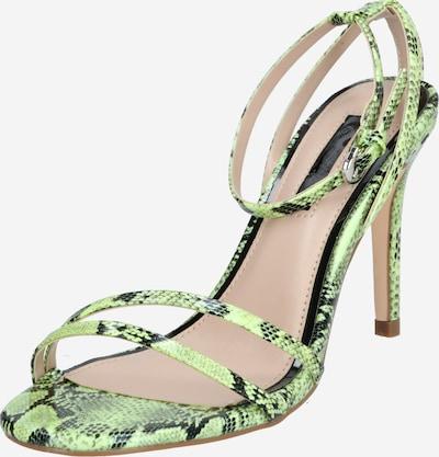 Miss Selfridge Sandalen met riem 'Skinny' in de kleur Limoen, Productweergave