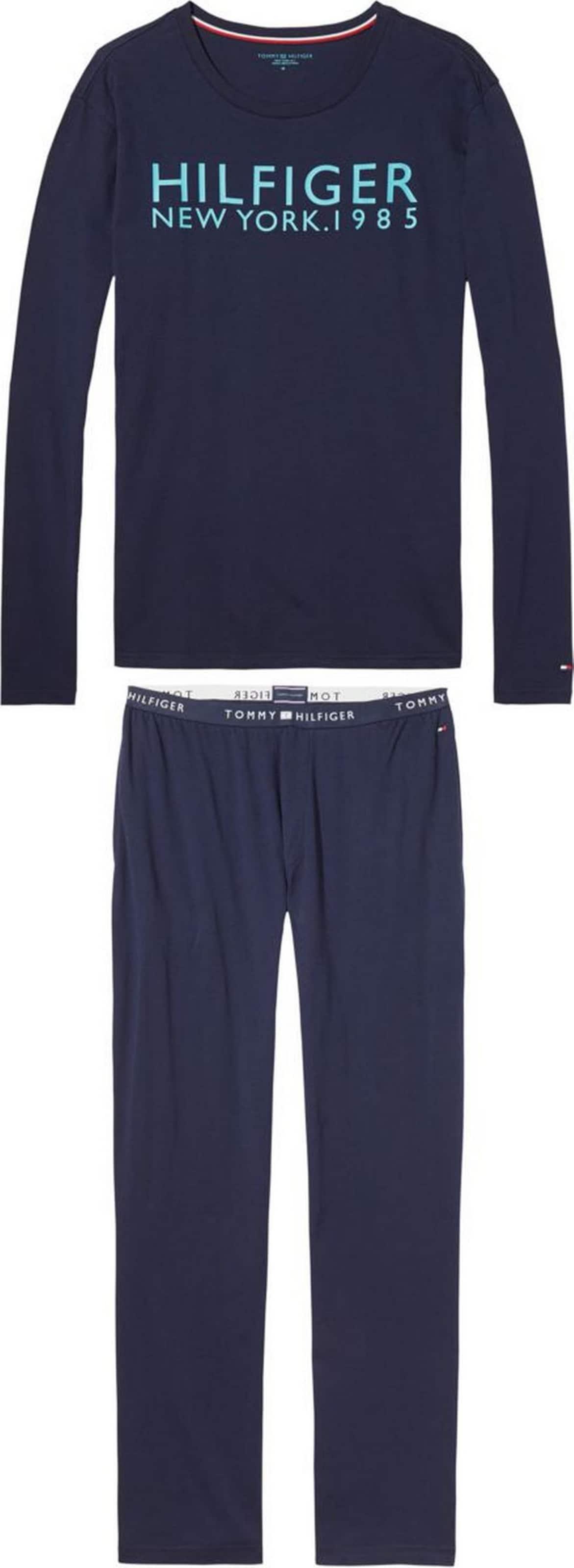 TOMMY HILFIGER Pyjama 'SET LS LOGO' Fälschung Günstig Online QOWSqGG2