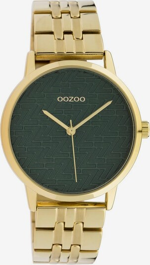 OOZOO Uhr in gold / dunkelgrün, Produktansicht