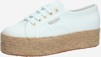 SUPERGA Sneaker '2790-Cotdrillropew' in hellblau / braun: Frontalansicht