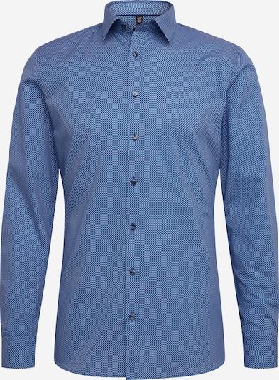 OLYMP Chemise business en bleu / blanc, Vue avec produit