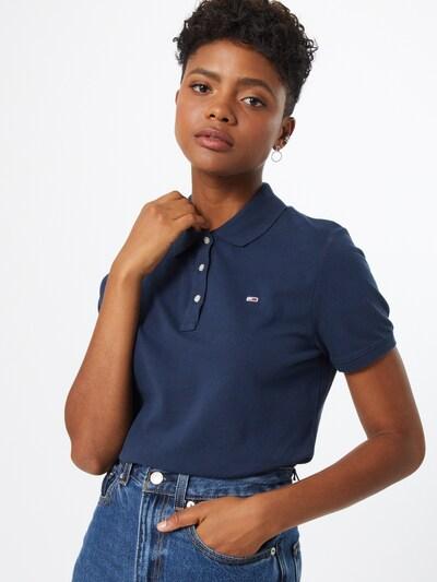 Tommy Jeans T-shirt en bleu marine: Vue de face