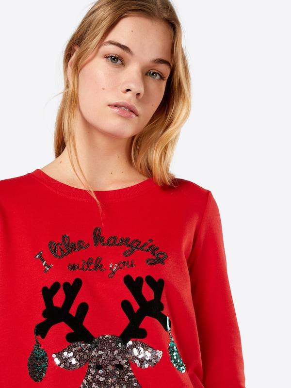 ONLY Weihnachts Strickpullover