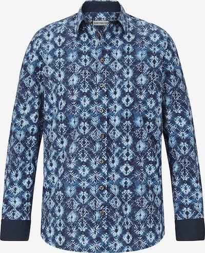 Shirtmaster Hemd 'Batic Flower' in hellblau / dunkelblau, Produktansicht