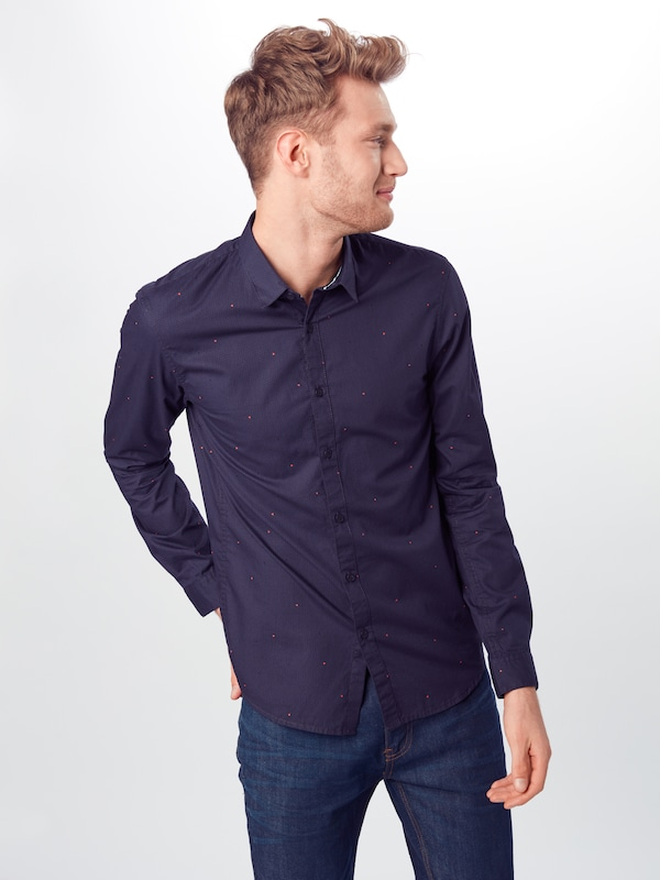 TOM TAILOR DENIM Hemd in navy: Frontalansicht