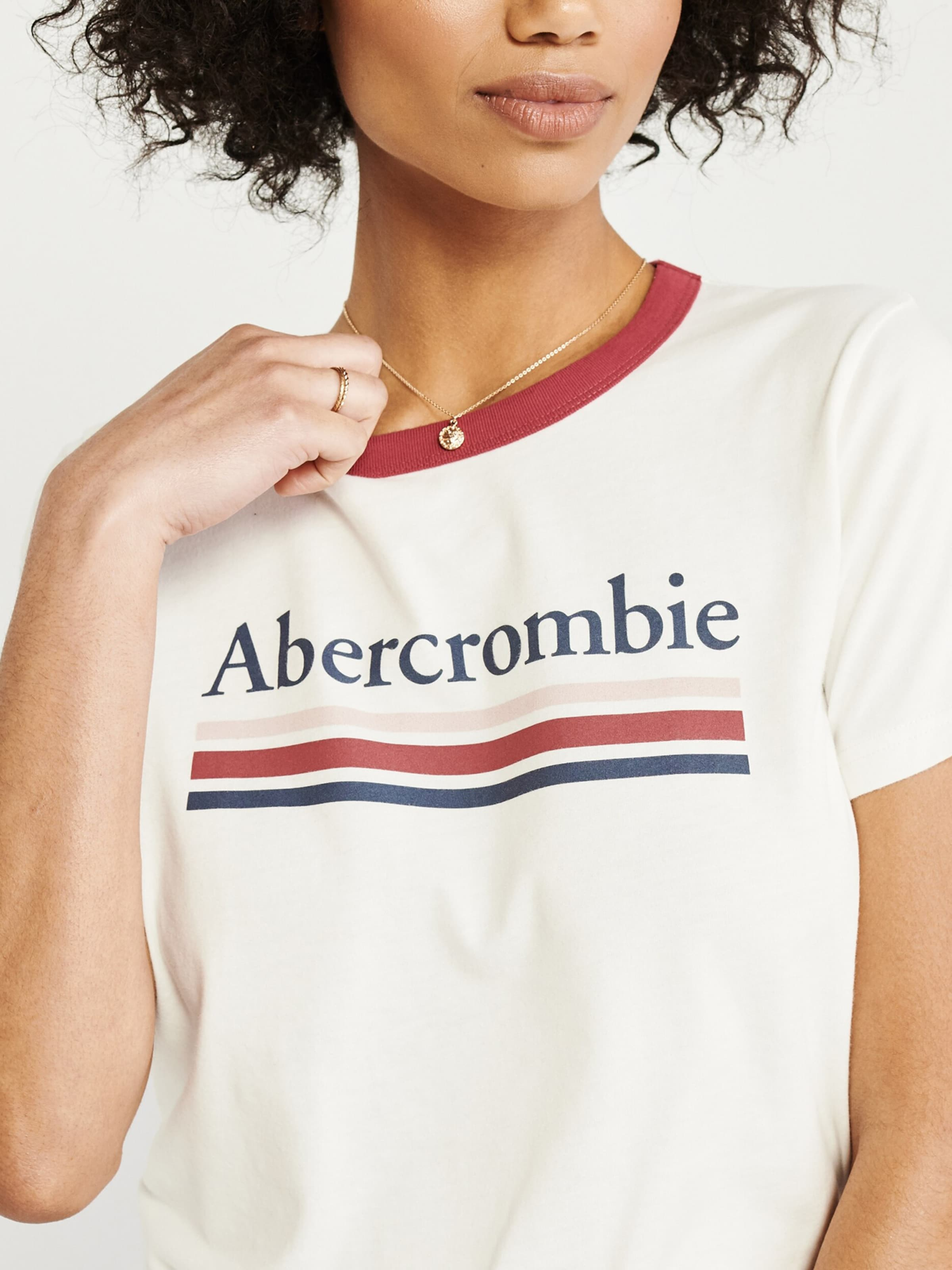 Tee' Abercrombieamp; Shirt ss Print 's219 Logo Wit Fitch In ybf6Yg7