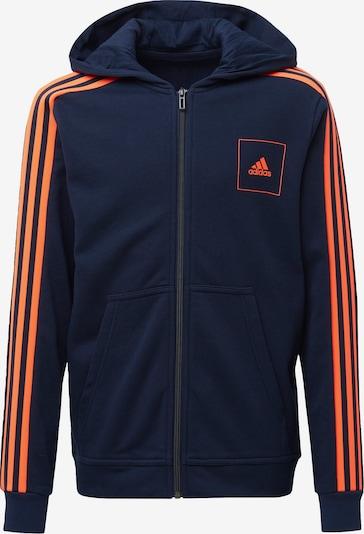 Bluză cu fermoar sport ADIDAS PERFORMANCE pe albastru noapte / portocaliu neon, Vizualizare produs