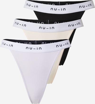 NU-IN String en lilas / rose pastel / noir / blanc, Vue avec produit
