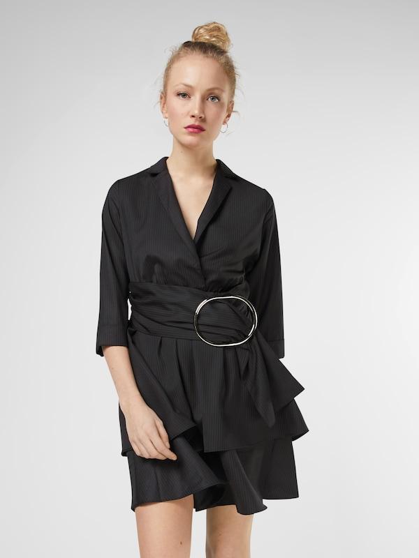Lost Ink Kleid mit auffälliger Schnalle