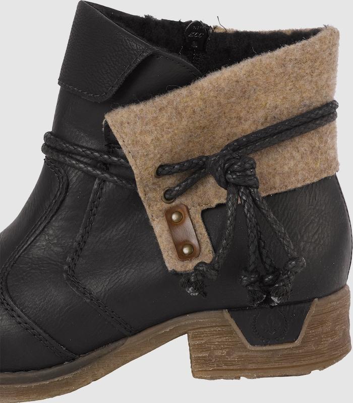 RIEKER Stiefelette Schuhe mit Klappschaft Verschleißfeste billige Schuhe Stiefelette 390184