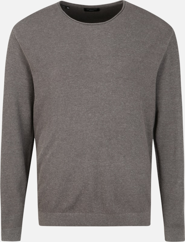 SELECTED HOMME Pullover 'ROCKY' in graumeliert, Produktansicht