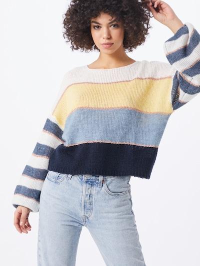 VILA Pullover 'POLANA' in blau / weiß, Modelansicht