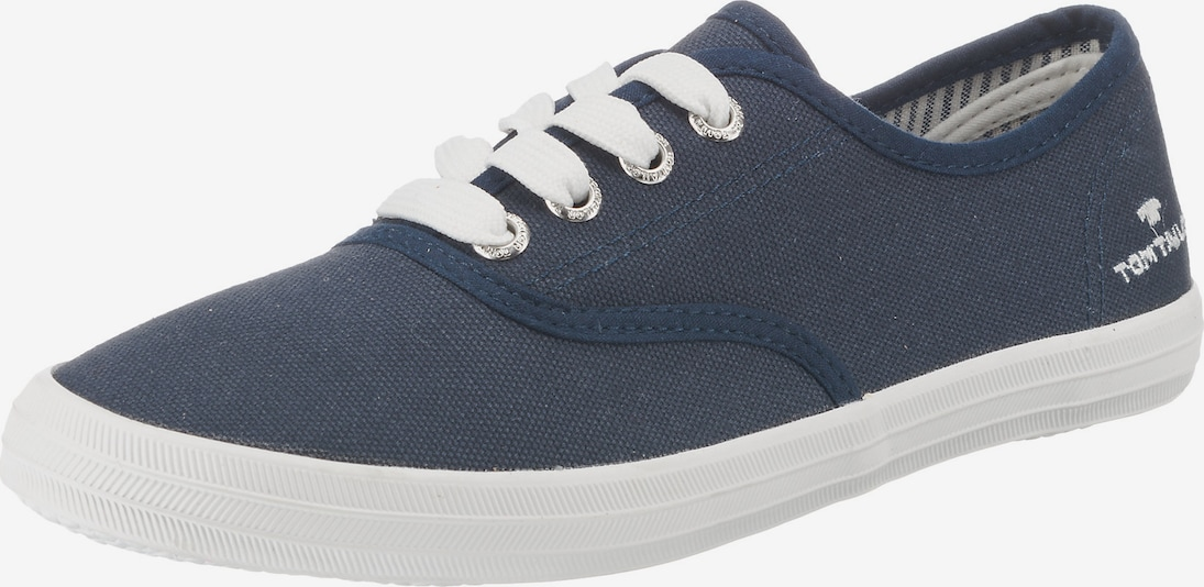 TOM TAILOR Sneakers in navy / weiß: Frontalansicht