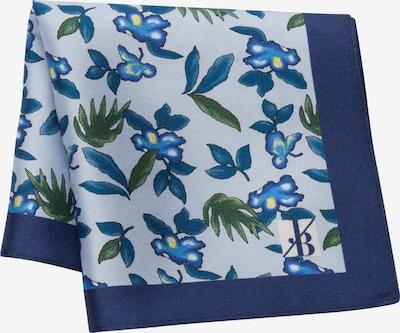 Jacques Britt Einstecktuch 'Custom Fit' in blau / hellblau / grün, Produktansicht