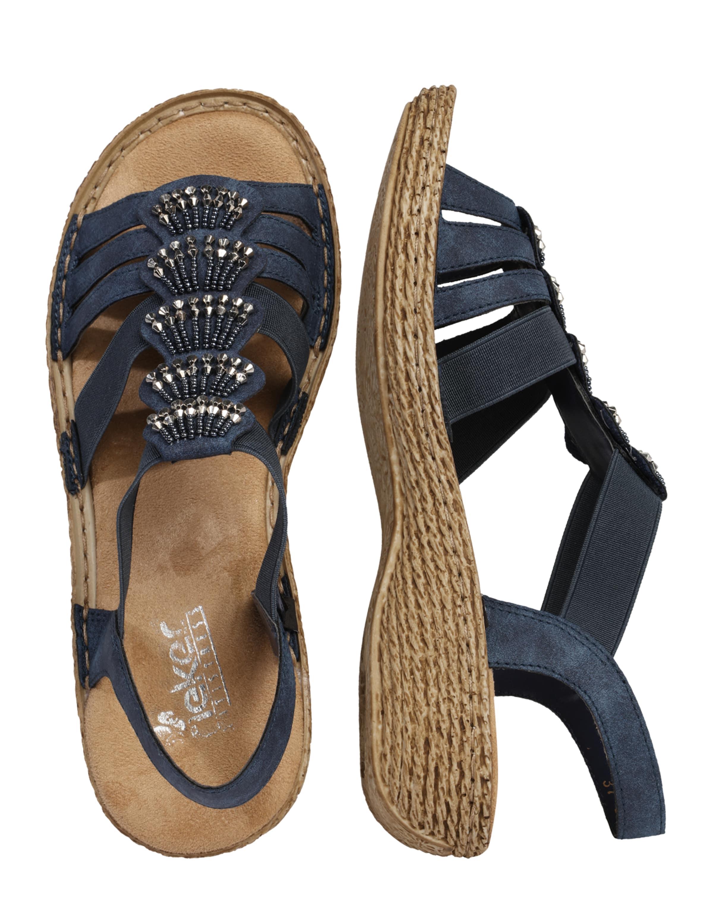 In Rieker Mit Sandale Perlen verzierung Marine ZkuPXwOiT