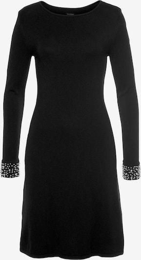 BRUNO BANANI Strickkleid in schwarz / perlweiß, Produktansicht
